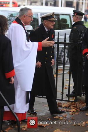 Prince Philip , Duke of Edinburgh - The Duke of Edinburgh and Prince Harry pay their respects at Westminster Abbey's...