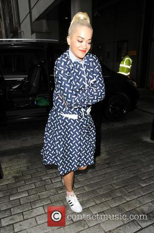 Rita Ora - Rita Ora arrives at BBC Radio 1 with the band Sigma - London, United Kingdom - Thursday...