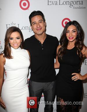 Eva Longoria, Mario Lopez and Courtney Mazza