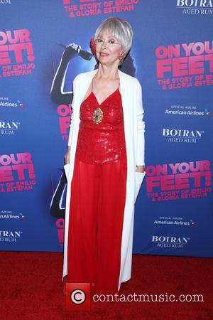 Rita Moreno - Opening night party for On Your Feet at the New York Marriott Marquis Hotel - Arrivals. at...