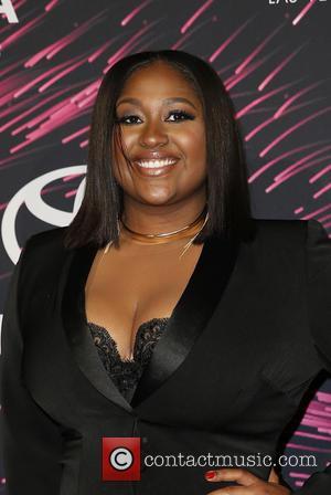 Jazmine Sullivan - 2015 Soul Train Music Awards Red carpet at The Orleans Arena at The Orleans Arena - Las...
