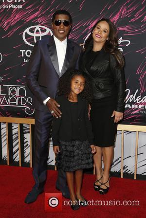 Kenneth Babyface Edmonds Peyton Edmonds Nicole Edmonds - 2015 Soul Train Music Awards held at the Orleans Arena inside The Orleans Hotel...