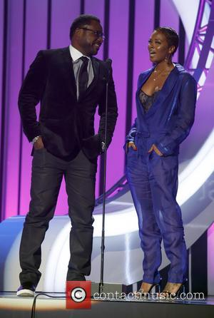 Malcolm Jamal Warner , Eva Marcille - 2015 Soul Train Music Awards Show at The Orleans Arena at The Orleans...