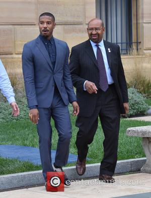 Michael B. Jordan and Mayor Michael Nutter