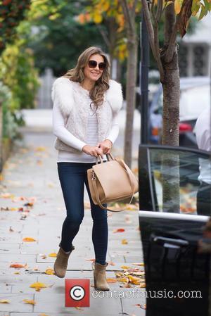 Elizabeth Hurley - Liz Hurley out in London - London, United Kingdom - Friday 6th November 2015