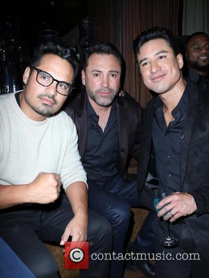 Michael Peña, Oscar De La Hoya and Mario Lopez