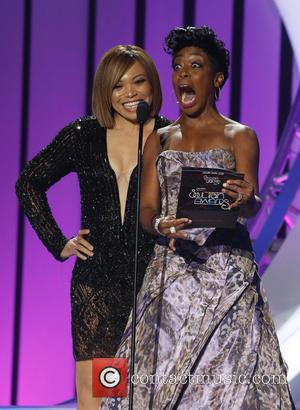 Tisha Campbell-Martin , Tichina Arnold - 2015 Soul Train Music Awards Show at The Orleans Arena at The Orleans Arena...
