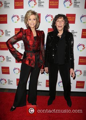 Jane Fonda , Lily Tomlin - The Los Angeles LGBT Center's 46th Anniversary Gala Vanguard Awards - Arrivals at Hyatt...