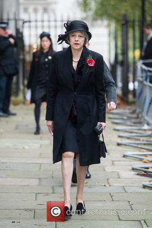 Theresa May - Downing Street arrivals before the Remembrance Sunday service at the Cenotaph. - London, United Kingdom - Sunday...