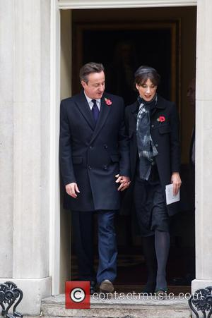 David Cameron , Samantha Cameron - Downing Street arrivals before the Remembrance Sunday service at the Cenotaph. - London, United...