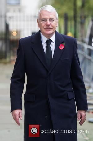 John Major - Downing Street arrivals before the Remembrance Sunday service at the Cenotaph. - London, United Kingdom - Sunday...