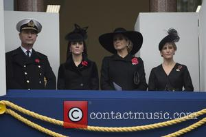 Duchess of Cambridge , Sophie duchess of wessex - Member of the Royal family attends a service at the cenotaph...
