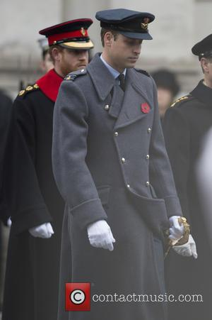 Prince William , Prince Harry - Member of the Royal family attends a service at the cenotaph for Remembrance Sunday...