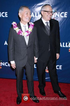 George Takei , Brad Takei - Opening night of 'Allegiance' at the Longacre Theatre - After Party at Bryant Park...
