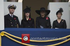 Duchess of Cambridge , Sophie duchess of wessex - Remembrance Sunday Service at The Cenotaph - London, United Kingdom -...