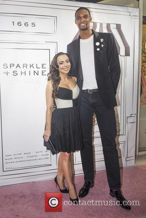 Adrienne Bosh and Chris Bosh
