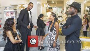 Adrienne Bosh, Chris Bosh, Gabrielle Union and Dwyane Wade