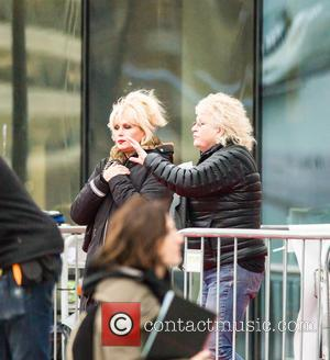 Joanna Lumley - 'Absolutely Fabulous the Movie' filming in London - London, United Kingdom - Monday 9th November 2015