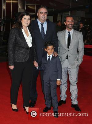 Maria Dolores Aveiro , Christiano Ronaldo Jr - World premiere of 'Ronaldo' at The Vue Cinema, Leicester Square - Red...