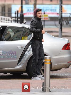 Giovanni Pernice - Georgia May Foote and dance partner Giovanni Pernice arrive for rehearsals in Manchester - Manchester, United Kingdom...