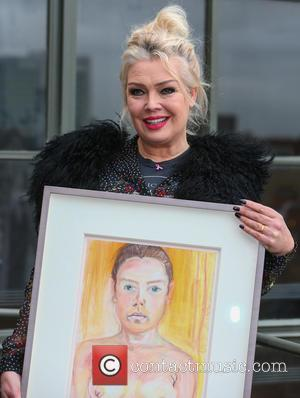 Kim Wilde - Kim Wilde unveils a self-portrait, painted in 1990, which is being auctioned to benefit the