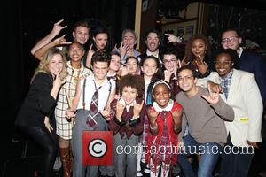 Andrew Lloyd Webber, Alex Brightman , cast - The cast of the Broadway musical School of Rock met some of...