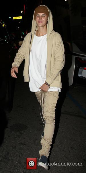 Justin Bieber - French Montana celebrates his 31st birthday at House of Macau with friends - Los Angeles, California, United...