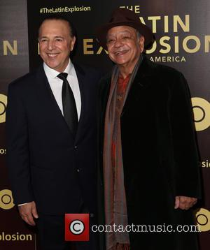 Tommy Mottola and Cheech Marin