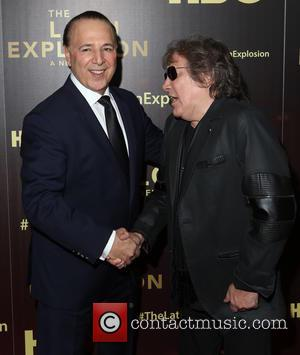 Tommy Mottola and Jose Feliciano