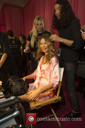 Behati Prinsloo - 2015 Victoria's Secret Fashion Show at The New York Armory - Backstage at Victoria's Secret - New...