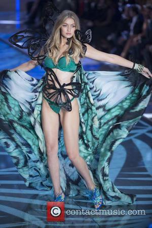 Gigi Hadid - 2015 Victoria's Secret Fashion Show at The New York Armory - Runway at New York Armory, Victoria's...