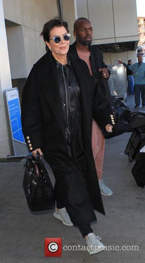 Kris Jenner , Corey Gamble - Kris Jenner and Corey Gamble at Los Angeles International Airport (LAX) - Los Angeles,...