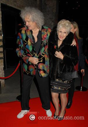 Brian May , Anita Dobson - The Classic Rock Roll Of Honour Awards 2015 at Roundhouse - Arrivals - London,...