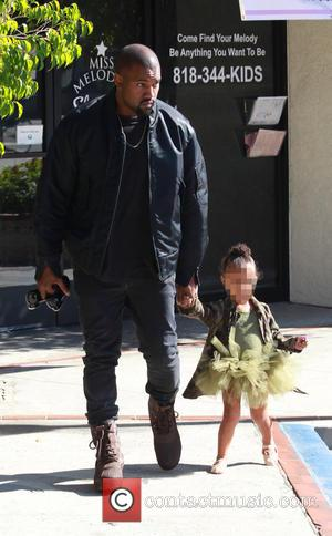 Kanye West , North West - Kanye West was spotted taking daughter North West to the ballet class tand met...