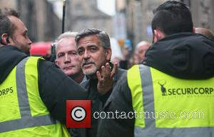 George Clooney - George Clooney visits Edinburgh. He visits Social Bite, the Post Code Lottery offices and Tiger Lily restaurant....