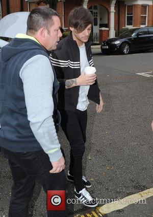 Louis Tomlinson - One Direction at BBC Studios in London - London, United Kingdom - Thursday 12th November 2015