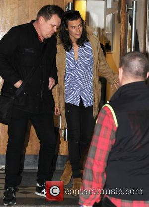 Harry Styles - One Direction at BBC Studios in London - London, United Kingdom - Thursday 12th November 2015
