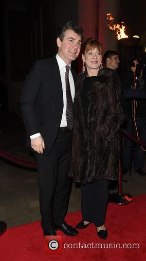 Samantha Bond , Alex Hanson - Park Theatre Annual Gala Dinner at Stoke Newington Town Hall - Arrivals - London,...