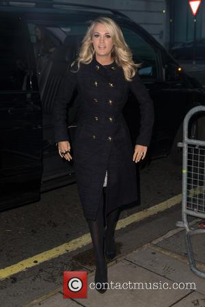 Carrie Underwood - Carrie Underwood pictured arriving at the Radio 2 studio at BBC Western House - London, United Kingdom...