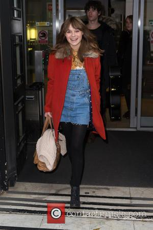 Gabrielle Aplin - Gabrielle Aplin leaving the BBC Radio 2 studios after appearing as a guest on the Chris Evans...
