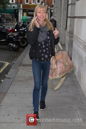 Sara Cox - Sara Cox leaving the BBC Radio 2 studios after hosting the Chris Evans Breakfast Show at BBC...