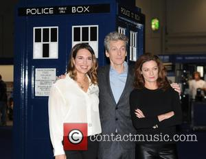 Ingrid Oliver, Michelle Gomez and Peter Capaldi