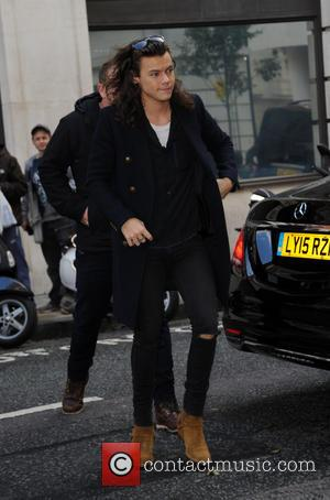 Harry Styles - Harry Styles of One Direction arrives at BBC Radio 2 - London, United Kingdom - Friday 13th...