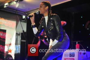 Alesha Dixon - Alesha Dixon turns on the Christmas lights and performs for the crowd at the Fishergate Shopping Centre...
