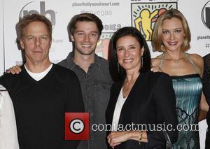 Greg Germann, Patrick Schwarzenegger, Mimi Rogers and Kristanna Loken