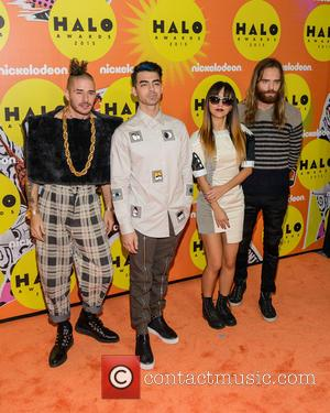 Joe Jonas , DNCE - Nickelodeon Halo Awards 2015 at Pier 36 - Arrivals - New York, United States -...
