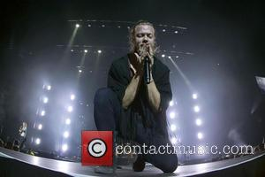 Imagine Dragons , Dan Reynolds - Imagine Dragons perform live in concert at the SSE Hydro at the SECC at...