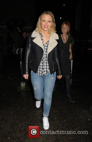 Kimberley Walsh - Kimberley Walsh leaving the Dominion Theatre after performing in 'Elf the Musical' - London, United Kingdom -...