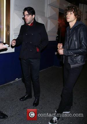 Zachary Quinto , Miles McMillan - Opening night of Misery at the Broadhurst Theatre - Arrivals. at Broadhurst Theatre, -...