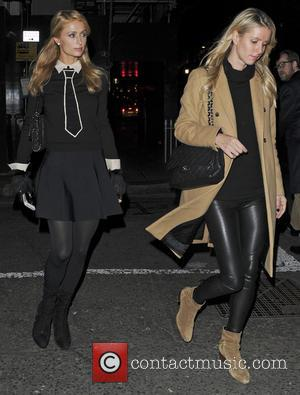 Paris Hilton , Nicky Hilton - Paris Hilton and sister Nicky Hilton seen arriving at Sexy Fish Restaurant - London,...